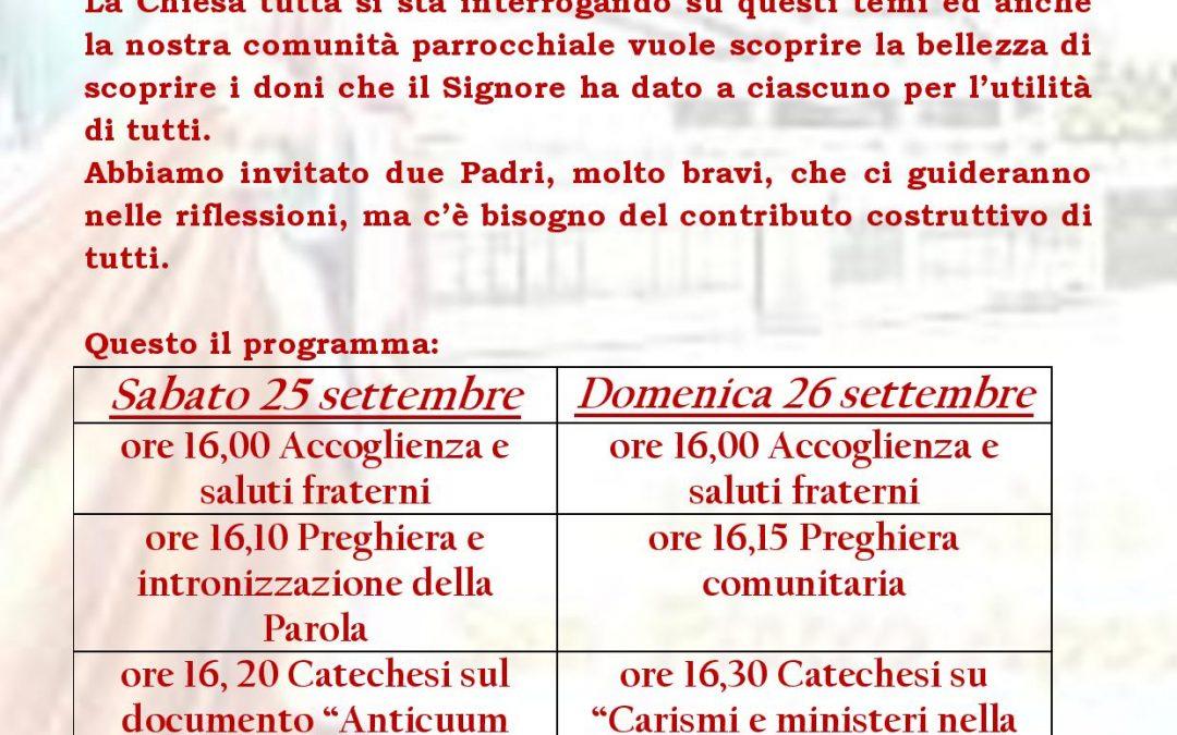 6° ritiro pastorale parrocchiale